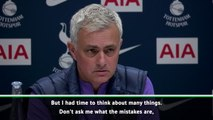 Mourinho expects to make 'new mistakes' at Tottenham