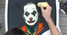 Le Joker dessiné avec… de la pâte à pancakes