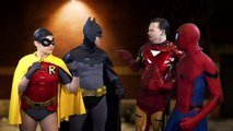 SPIDER-MAN & IRON MAN vs BATMAN & ROBIN - Switching Sidekicks - The Sean Ward Show