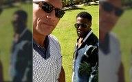 Jumanji The Next Level: Dwayne Johnson And Kevin 'Escobar' Hart Argue Over A Silk Shirt
