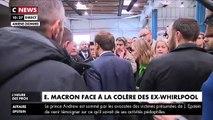 """Le Président Emmanuel Macron est de retour ce matin à l'usine Whirlpool à Amiens après sa fermeture: """"J'ai dit la vérité"""" - Vidéo"""