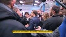 """""""J'ai dit que ça fermerait, je vous l'ai dit"""" : Emmanuel Macron pris à partie par d'ex-salariés de Whirlpool à Amiens"""