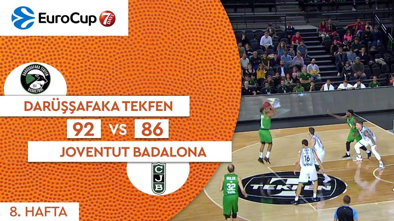 Darüşşfaka Tekfen 92 - 86 Joventut Badalona | Maç Özeti - EuroCup 8. Hafta