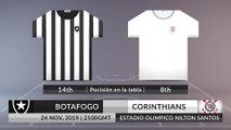 Match Preview: Botafogo vs Corinthians on 24/11/2019