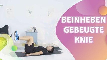 Beinheben, gebeugte Knie -  Besser gesund Leben