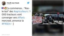 Agriculteurs en colère. 1 000 tracteurs convergeront vers Paris mercredi 27 novembre annonce la FNSEA