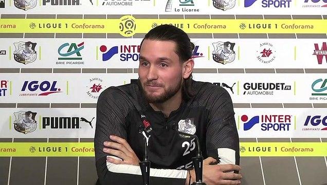 Conférence de presse d'avant Match, ASC -RCSA :  Jordan Lefort
