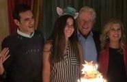 زوجة حسين فهمي الجديدة تخطف الأنظار في عيد ميلاد ابنته منة