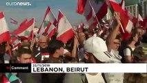 Lübnan'da on binlerce kişi, bağımsızlık gününde yolsuzluk karşıtı yürüyüş düzenledi