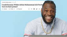 Deontay Wilder Goes Undercover on Reddit, YouTube and Twitter