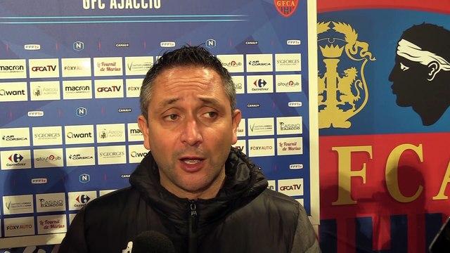 Vidéo - la réaction des coachs après Gazélec FC Ajaccio / Quevilly RM (0-0)