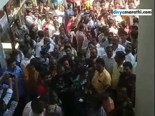 Slogans raised in support of Sharad Pawar and against Ajit Pawar by a group of NCP workers