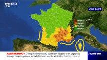 Intempéries: 7 départements désormais placés en vigilance orange