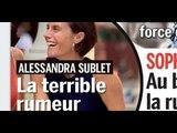 Alessandra Sublet anéantie par les attaques, enfin une nouvelle rassurante