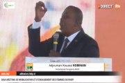 Adjoumani au giga meeting des femmes RHDP : Le président Alassane Ouattara est le véritable héritier d`Houphouët-Boigny