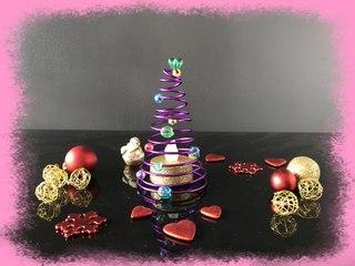 diy fabriquer un sapin lumineux à led pour une décoration de table de fête pour  noël