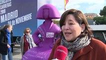 Colocan una menina contra la violencia de género en Madrid