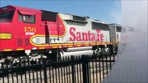 PART ONE- Heavy BNSF and Amtrak action, railfanning at Fullerton Station 6-11-09