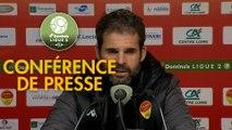 Conférence de presse US Orléans - Valenciennes FC (0-1) : Didier OLLE-NICOLLE (USO) - Olivier GUEGAN (VAFC) - 2019/2020