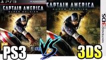 PS3 vs 3DS - Captain America Super Soldier Graphical Comparison