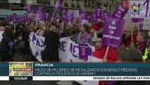 Miles de mujeres protestan contra la violencia doméstica en Francia