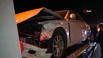 Otomobil koyun sürücüsüne daldı: 40 koyun telef oldu