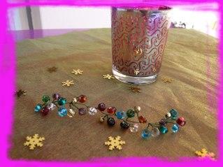fabriquer une mini guirlande pour votre déco de table de fêtes pour noel ou le reveillon