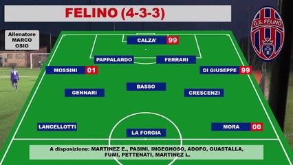 FELINO - NIBBIANO 1-2, highlights e interviste