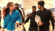 B TOWN COUPLE Ranbir Kapoor & Alia Bhatt arrive at Mumbai Airport