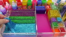 Glitter Mixing Slime Mix Learn Colors Clay Surprise Eggs Toys For Kids