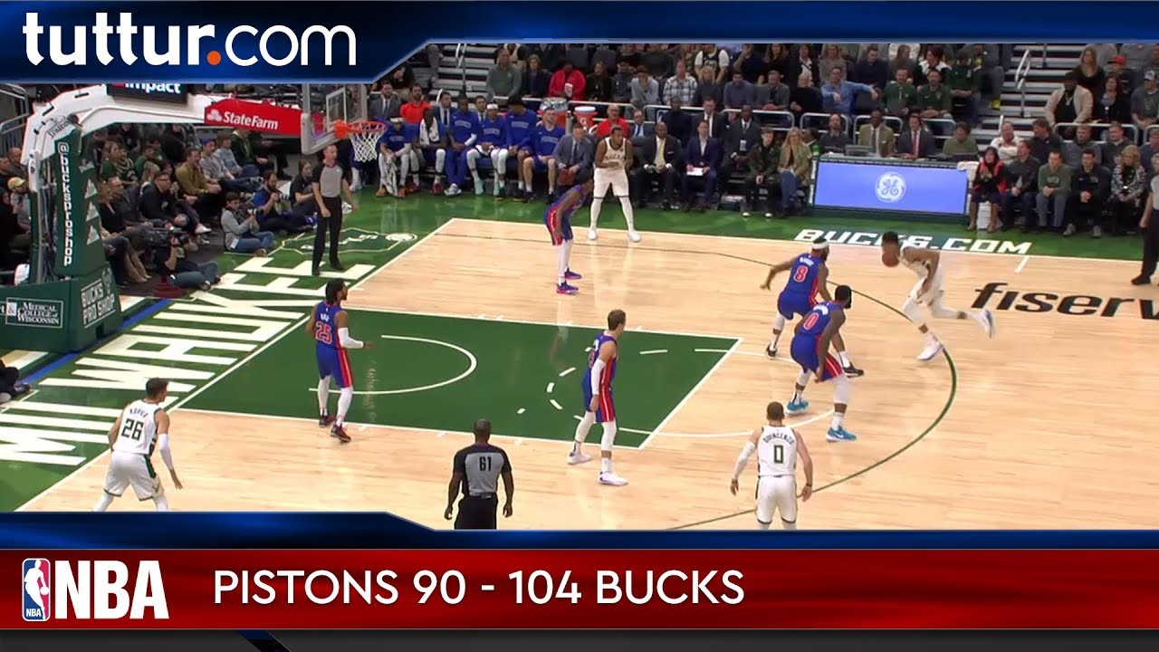 Detroit Pistons 90 - 104 Milwaukee Bucks