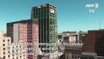 Wummm! Spektakuläre Gebäudesprengung in Johannesburg