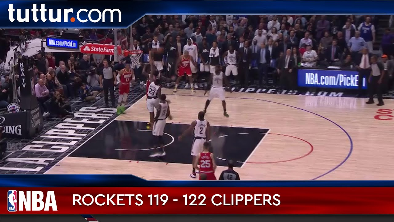 Houston Rockets 119 - 122 Los Angeles Clippers