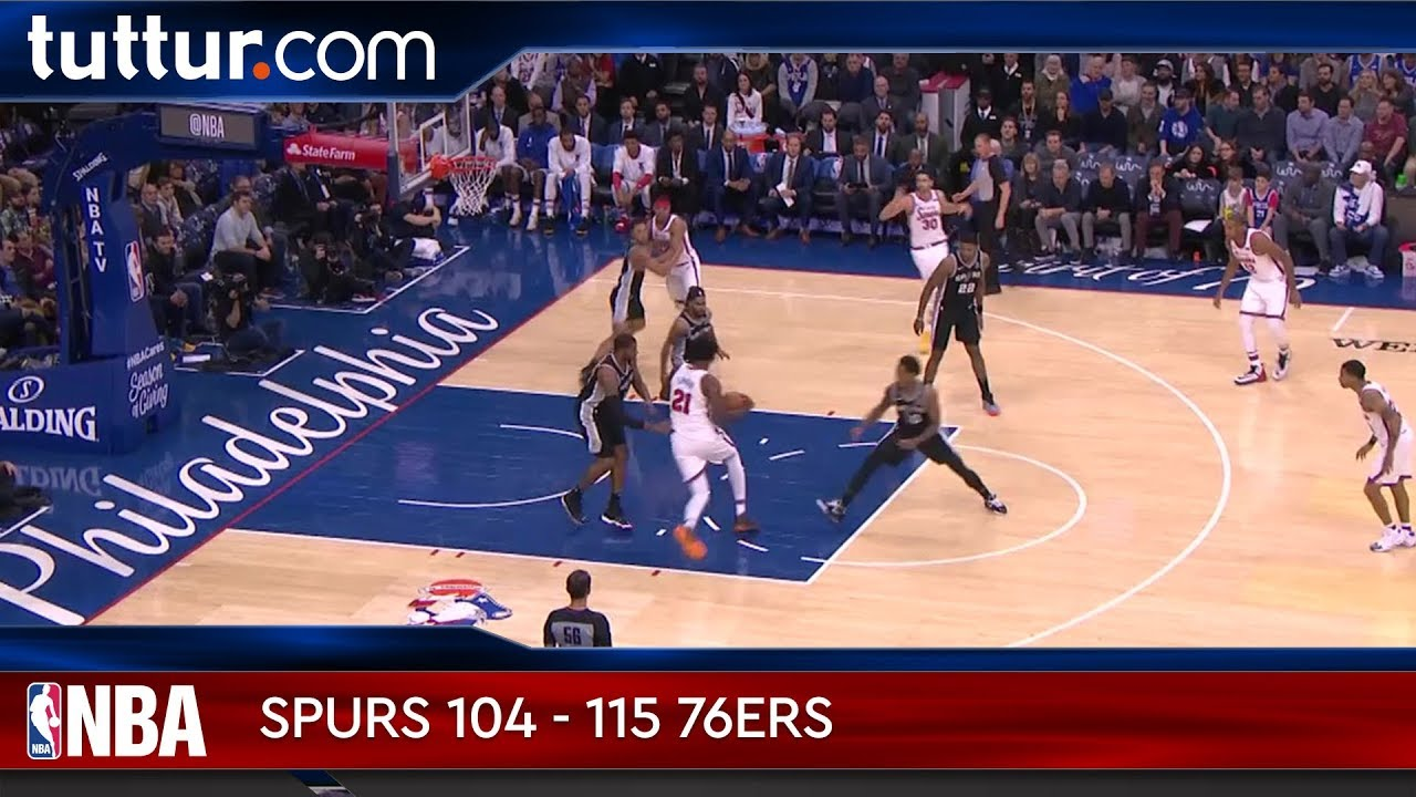 San Antonio Spurs 104 - 115 Philadelphia 76ers