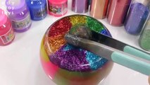 Learn Colors Combine 1000 Degree Ball Eggs Surprise Clay Glitter Foam Mix Slime Toys For Kids