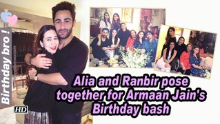 Alia and Ranbir pose together for Armaan Jain's Birthday bash