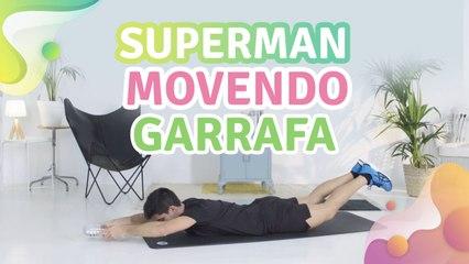 Superman movendo garrafa -  Melhor com Saúde