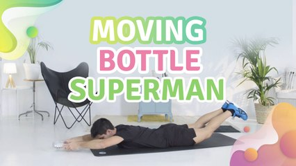 Moving bottle superman -  Step to Health