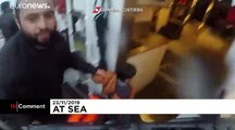 Watch: Shocking footage shows girl resuced by divers off Italian coast