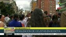 teleSUR Noticias: Colombia: Movilización de ciclistas en Bogotá