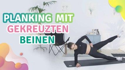 Planking mit gekreuzten Beinen - Besser gesund Leben