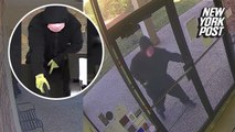 Armed robber makes one of the clumsiest getaways of all time