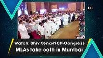 Watch: Shiv Sena-NCP-Congress MLAs take oath in Mumbai