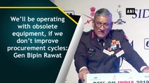 Indian army chief general Bipin Rawat on the nation's security system