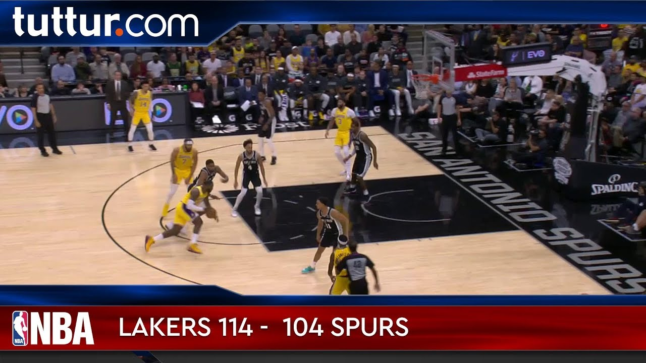 Los Angeles Lakers 114 - 104 San Antonio Spurs