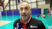 Le coach Christophe Charroux avant le match de Martigues Volley à Fréjus