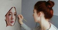 Daria Callie, une artiste peintre qui réalise des portraits très réalistes