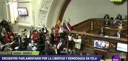 Diputados del PP, abucheados por chavistas en la Asamblea de Venezuela