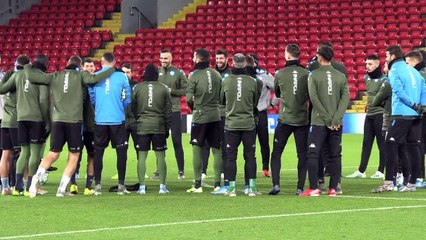 Napoli Train At Anfield Ahead Of Liverpool Champions League Clash