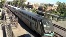Railfanning Poinsettia Station- BNSF & Amtrak action on the Surfline featuring Warbonnet # 713